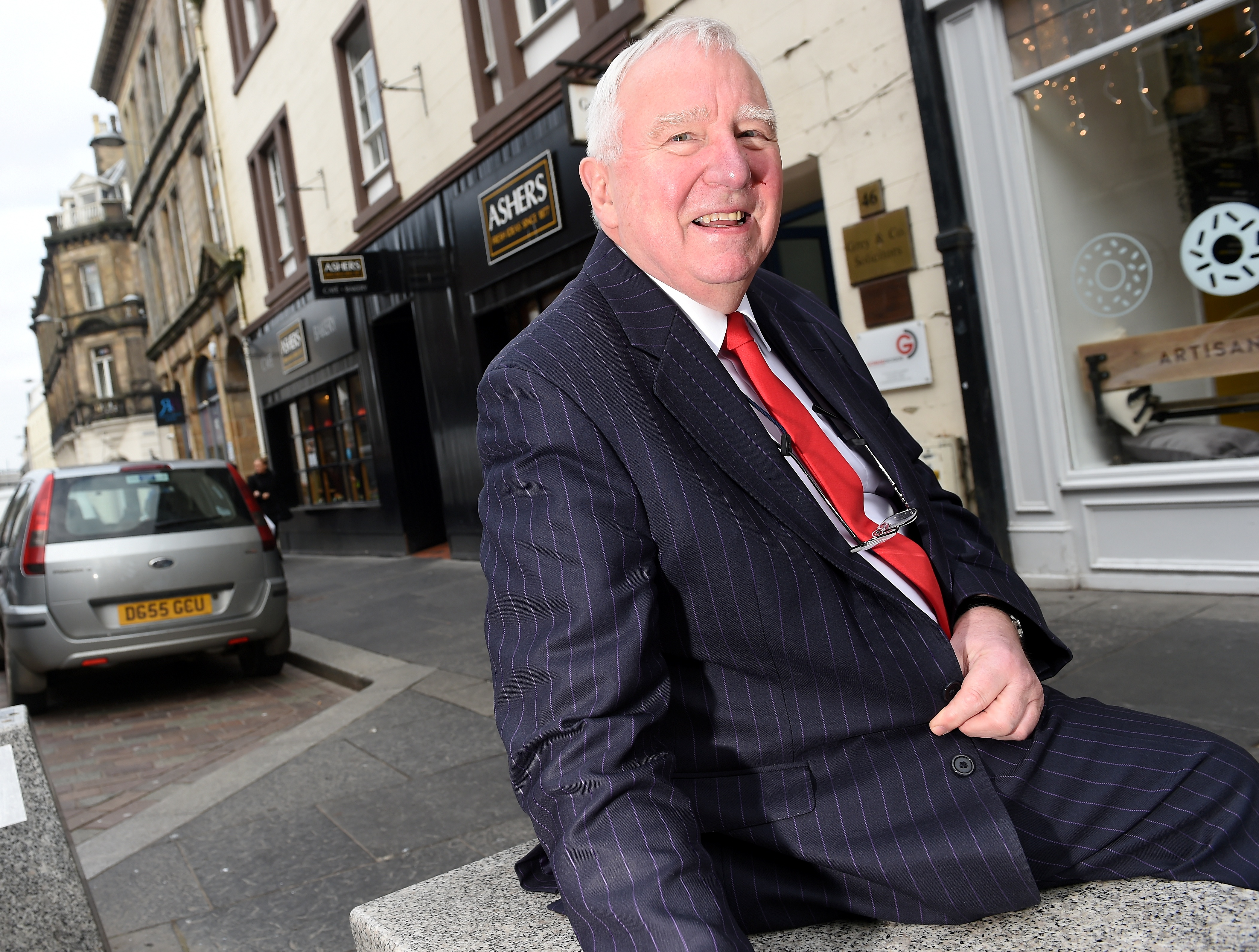 Inverness BID Manager Mike Smith at the current Ashers Bakery, shop which is moving from Church Street and is to be replaced by the new Brewdog pub. Picture by Sandy McCook