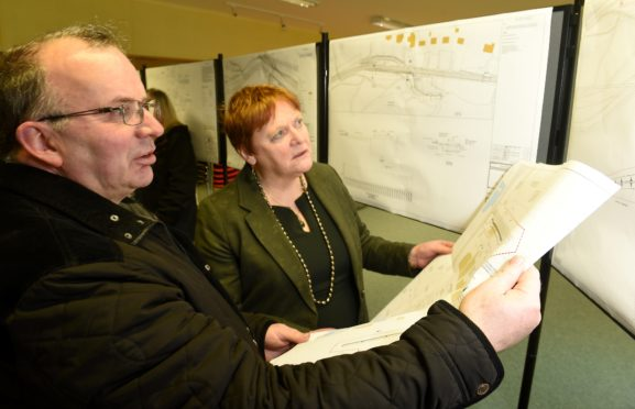 Councillor Margaret Davidson with David Fraser, vice chairman of the Glen Urquhart Community Council.