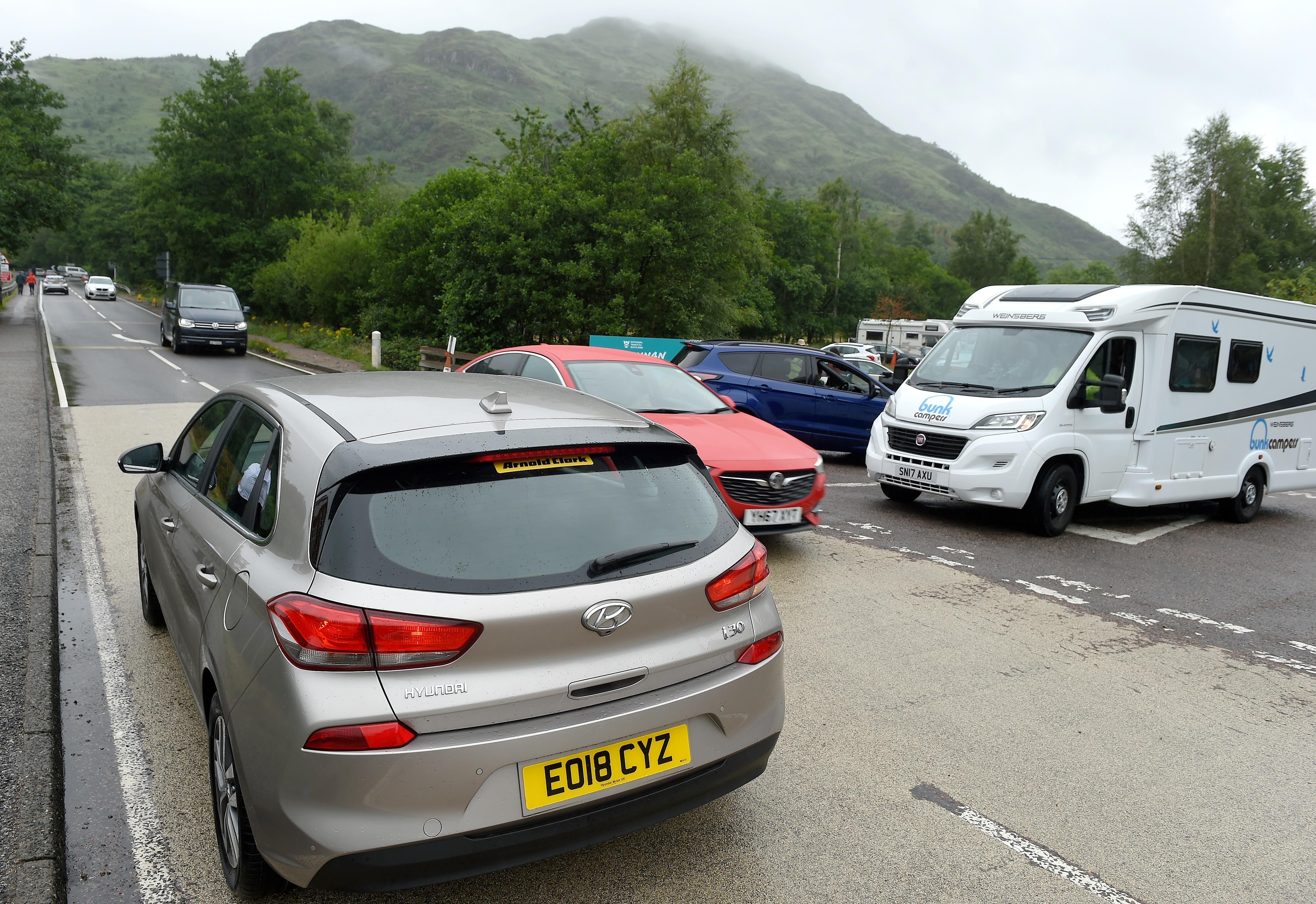 A very busy Glenfinnan Monument visitor centre.