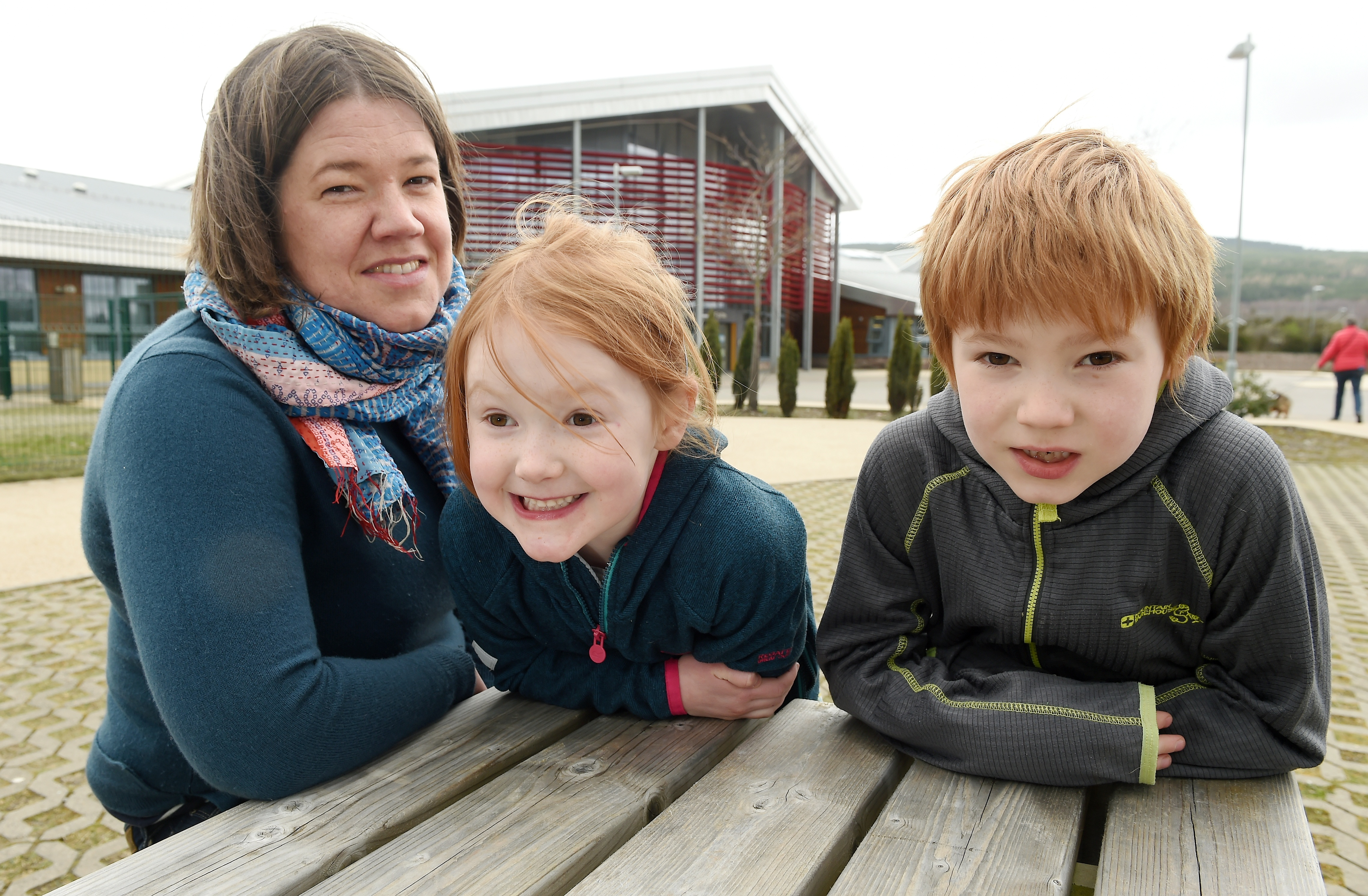 Carole Butler is concerned about the loss of additional support needs staff with her children, Megan and Struan.