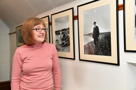 Aberdeenshire Council museums development manager Fiona Clark at the Russell family exhibition at Aden Country Park farming museum.