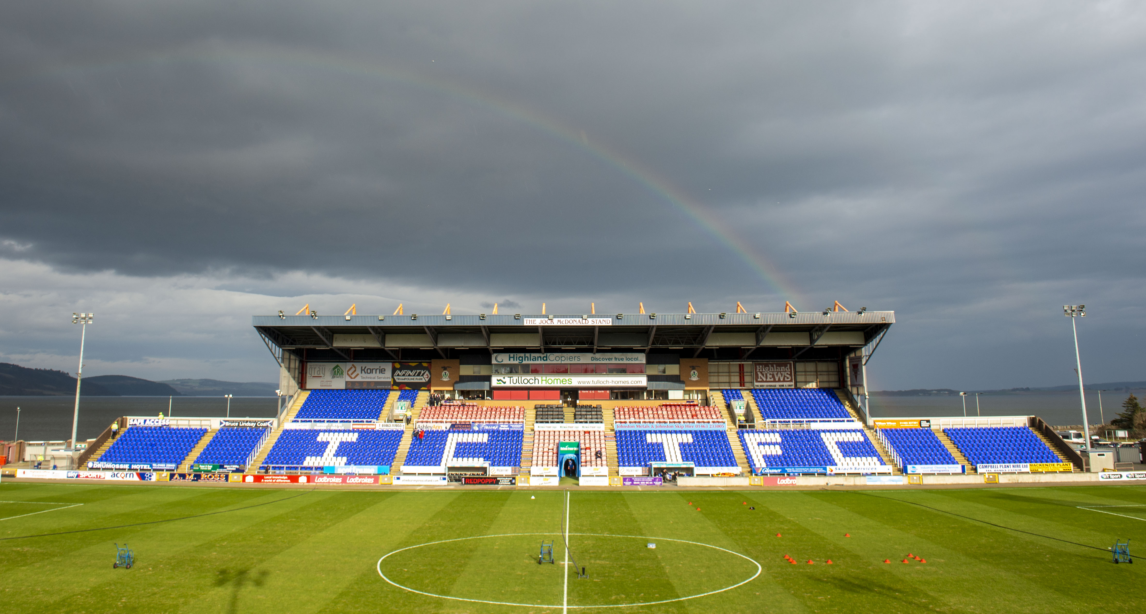 Caledonian Stadium is in a picturesque setting.