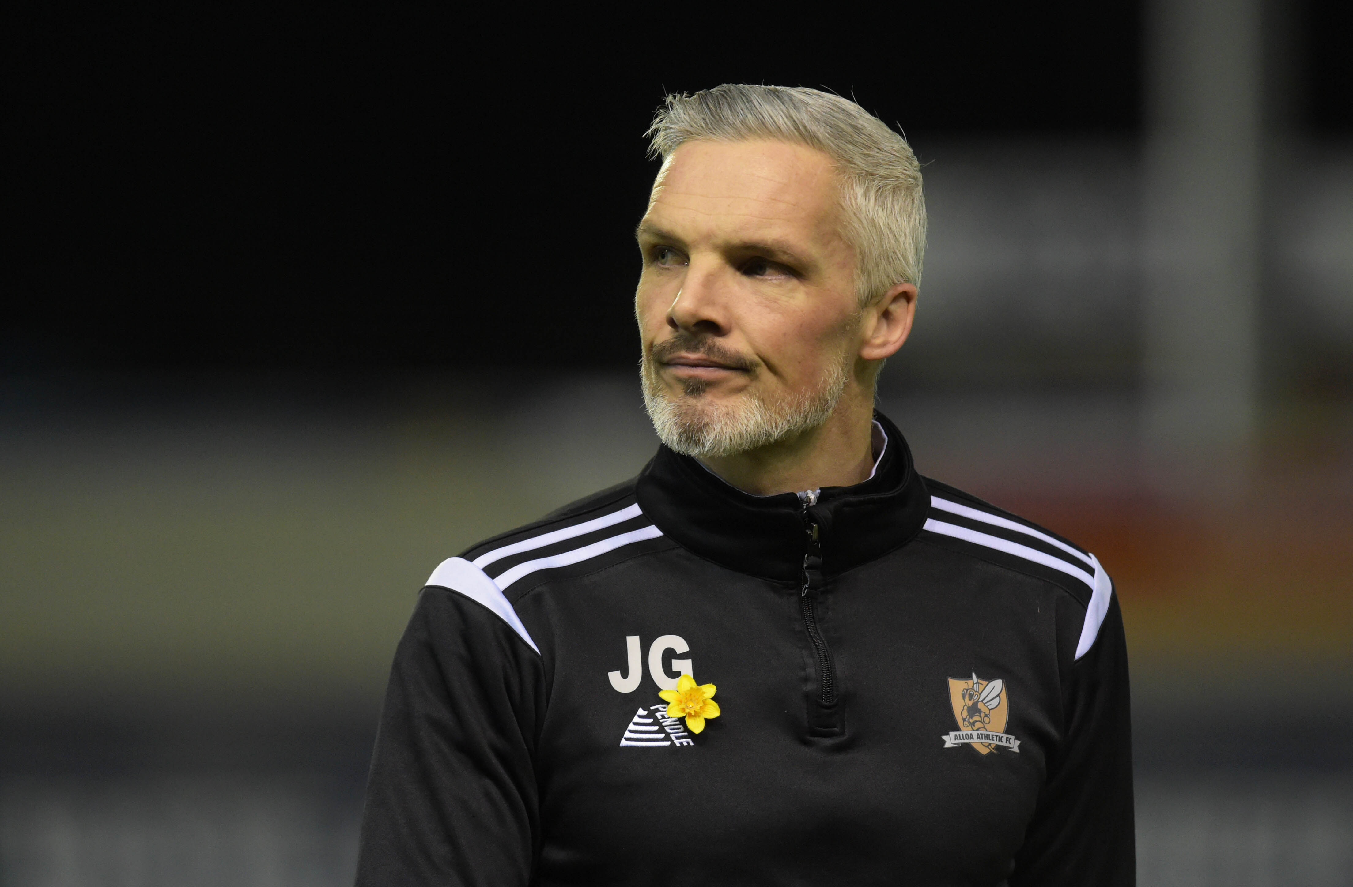 26/03/19 LADBROKES CHAMPIONSHIP INVERNESS CT v ALLOA ATHLETIC TULLOCH CALEDONIAN STADIUM - INVERNESS Alloa manager Jim Goodwin in the warm up