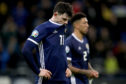 Scotland's Oliver Burke appears dejected during the UEFA Euro 2020 Qualifying, Group I match at the Astana Arena.