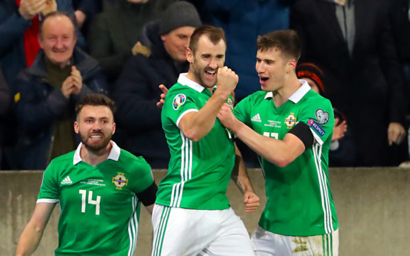 Niall McGinn hopes to reach the Euro finals with Northern Ireland