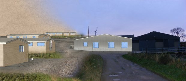 Artist impression of the rehab centre farm conversion north east