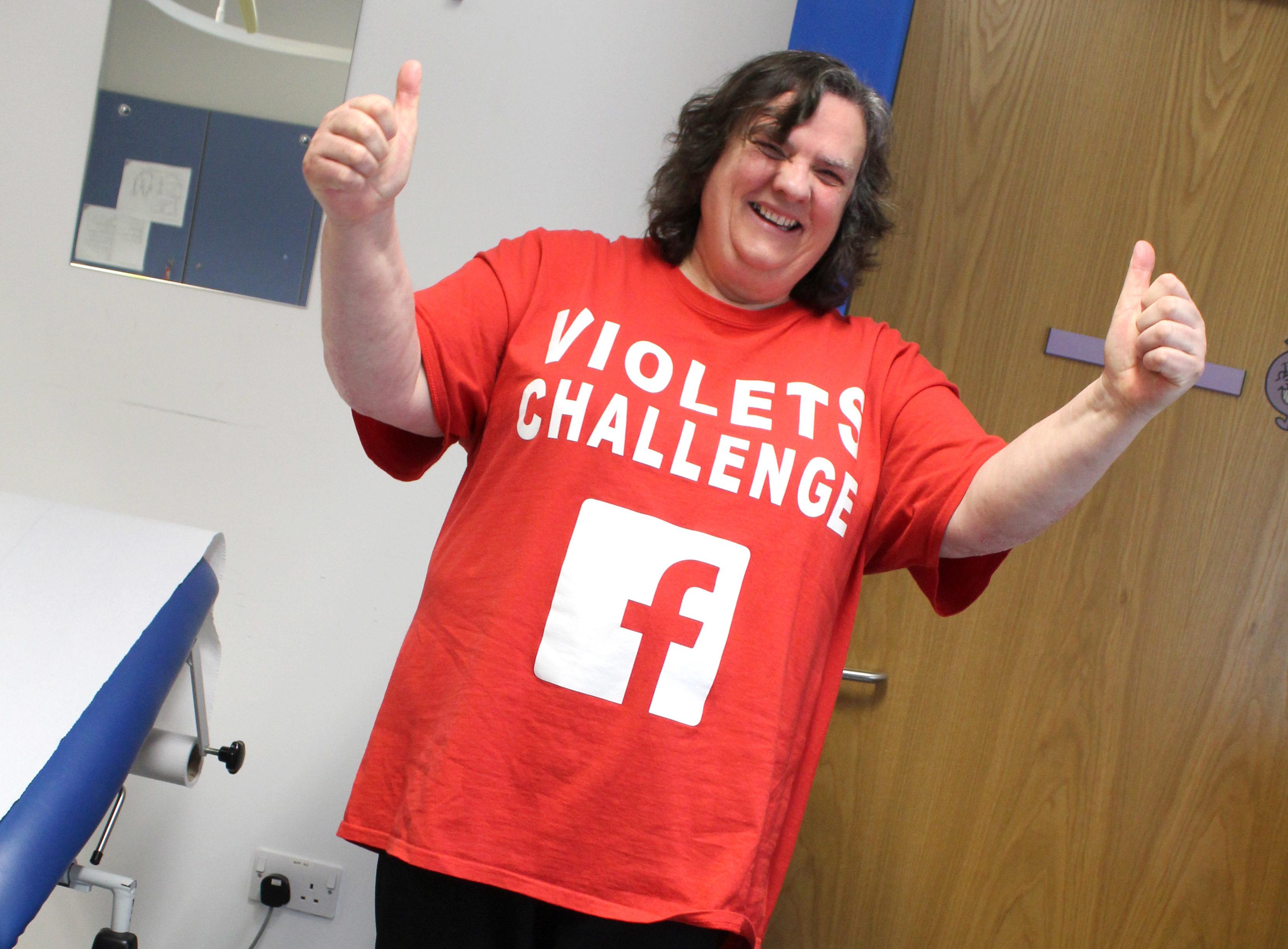 Violet Beattie at her final weigh-in