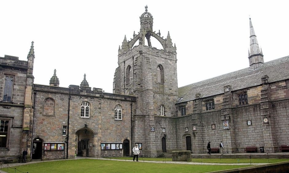 The quad at Kings College, Aberdeen university. Picture by Jim Irvine