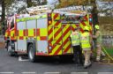 Firefighters were sent to the playing fields at Harlaw