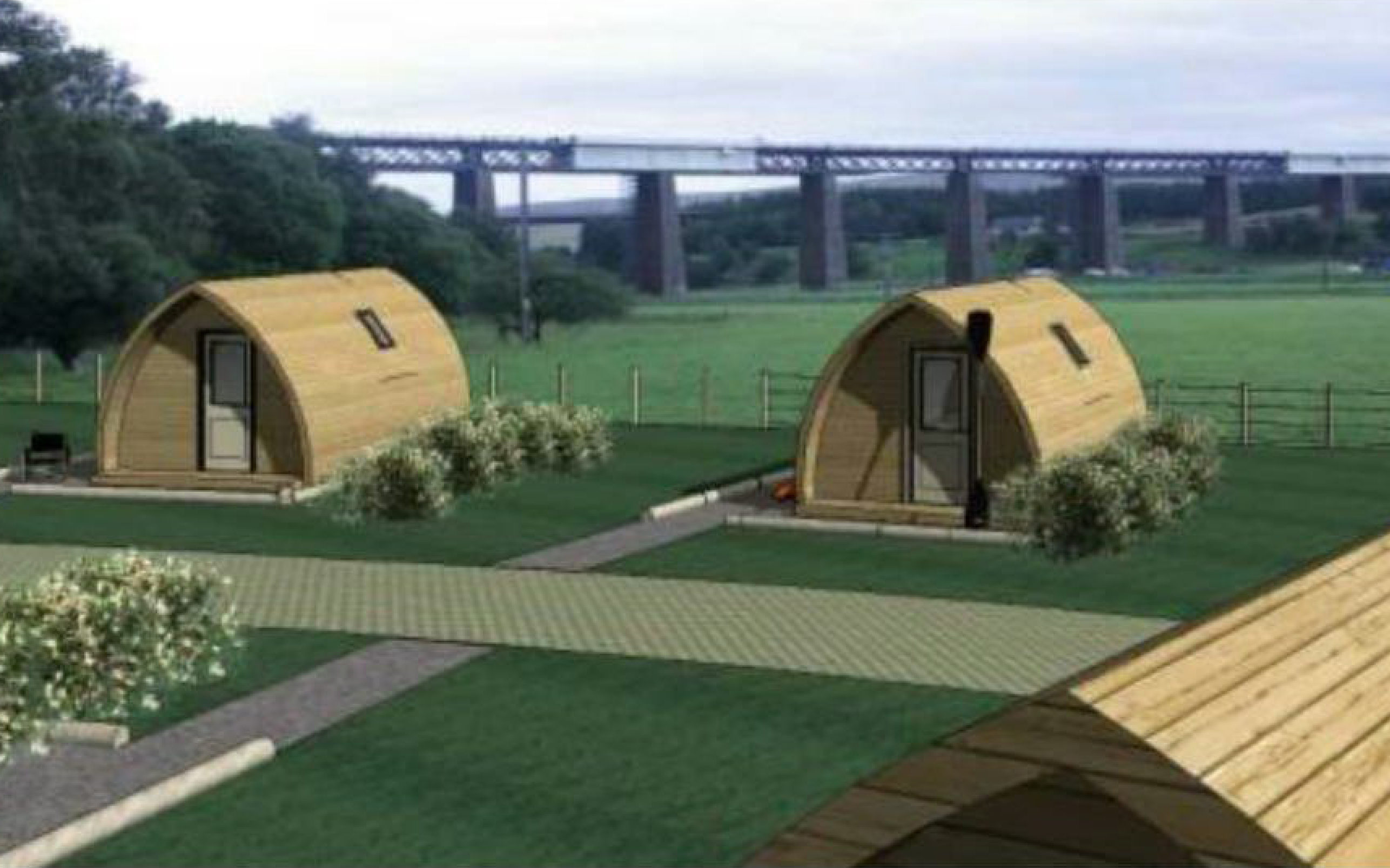 A design image of the pods.