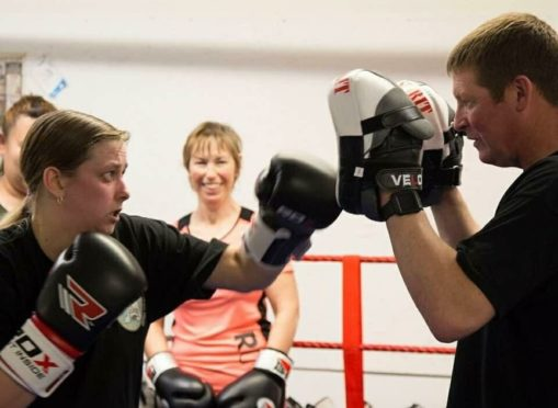 Lisa Pinnington of Caithness Boxing Club