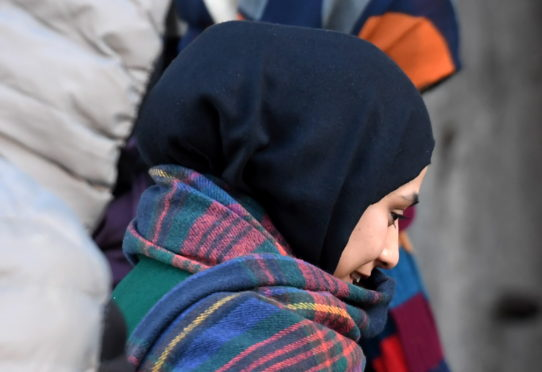 Syeda Begum pictured leaving Aberdeen High Court during her trial.