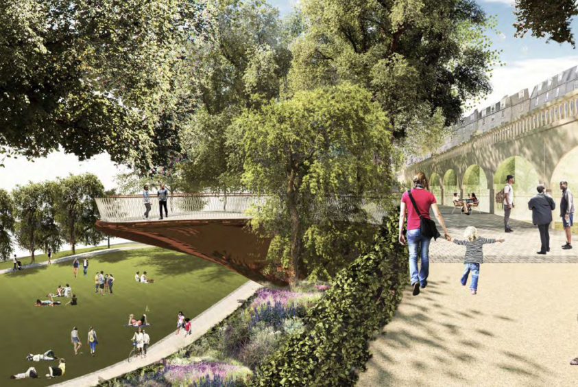Artist impression of Union Terrace Gardens