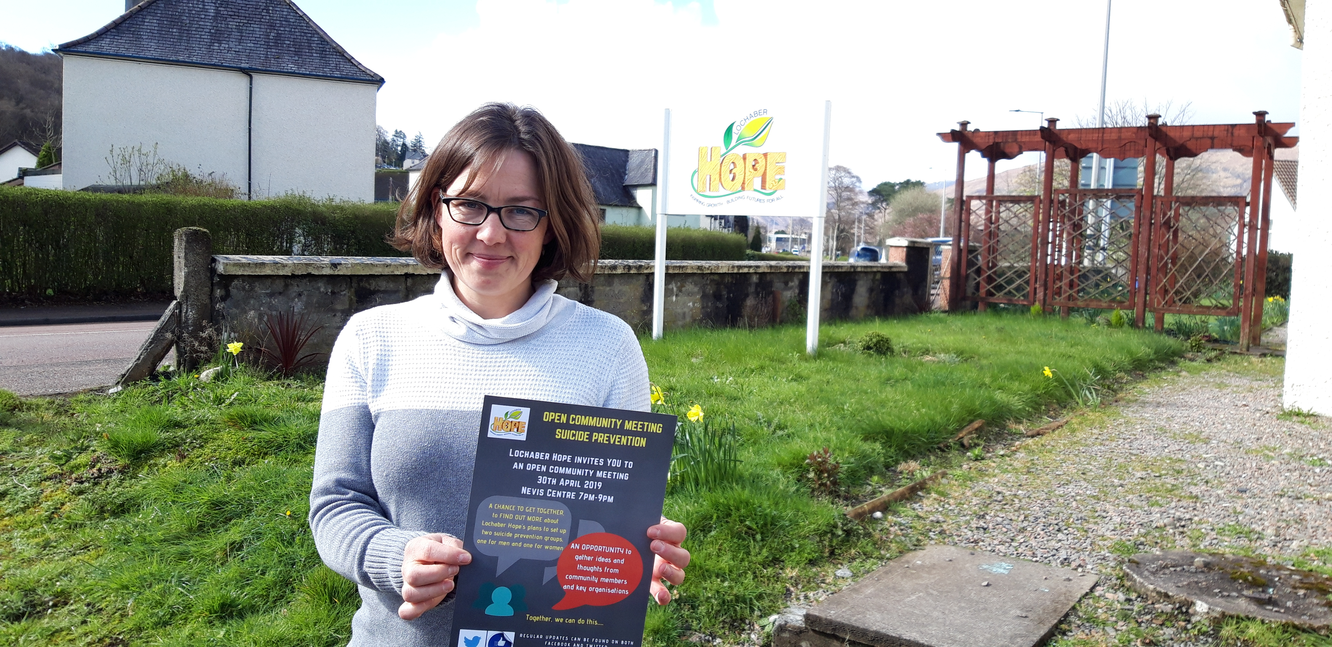 Carrie Starkie of charity Lochaber Hope invites people to a community meeting to talk about suicide.