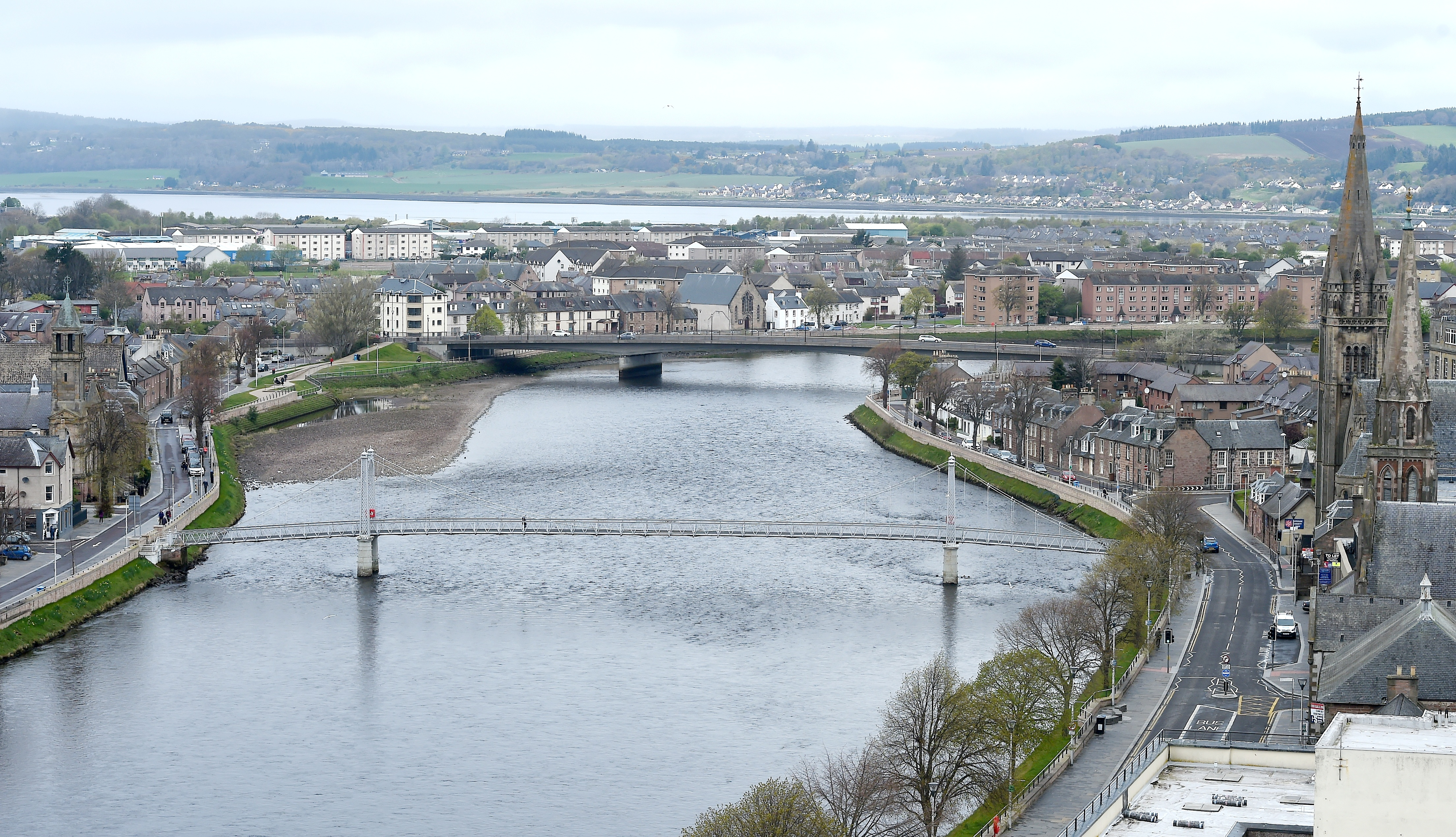 View from the North Tower of Inverness Castle. Picture by Sandy McCook