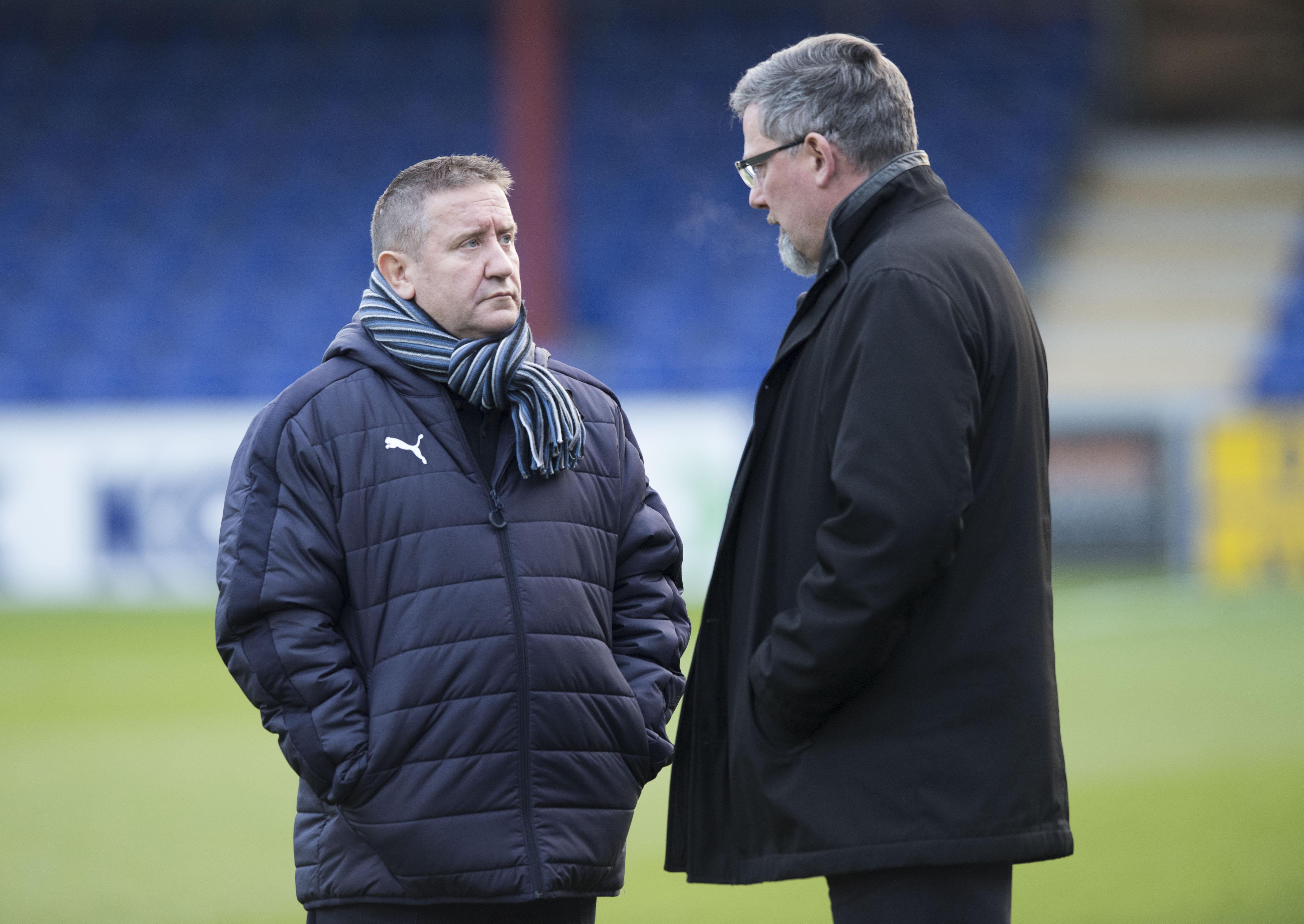 John Robertson (left) and Craig Levein.