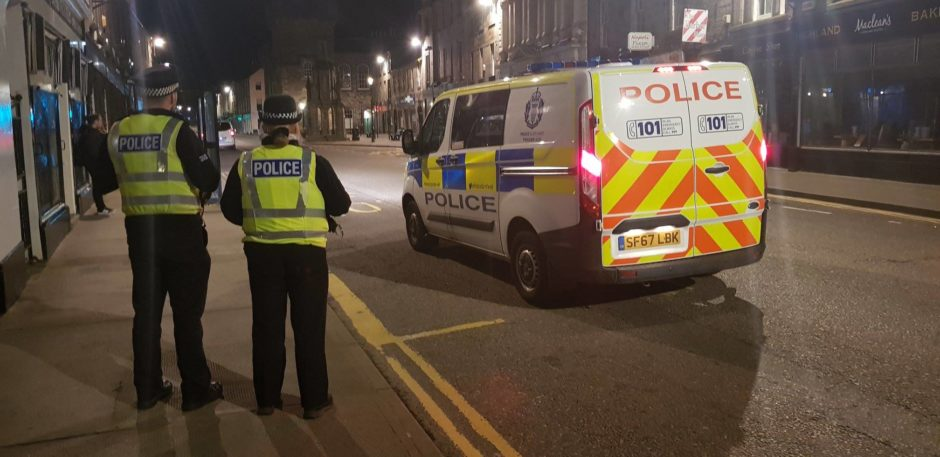 Police will be stepping up their patrols in Forres this weekend