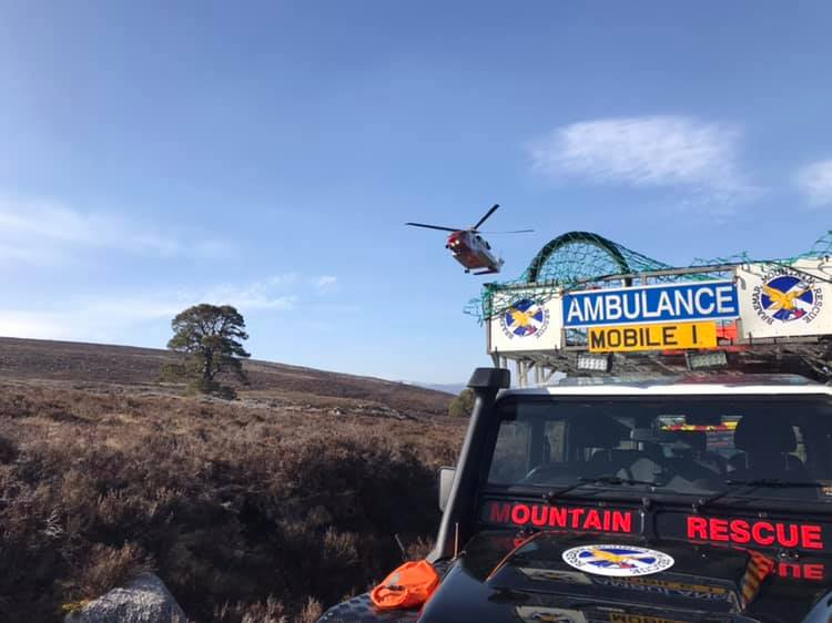 Braemar Mountain Rescue were called out three times.