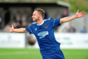 Mitch Megginson scored twice for Cove Rangers.