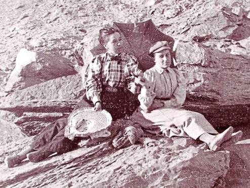 Aberdeen-born Annie Abernethie Pirie Quibell (pictured on left )