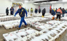 Fraserburgh Harbour Fish Market.    Picture by Kami Thomson