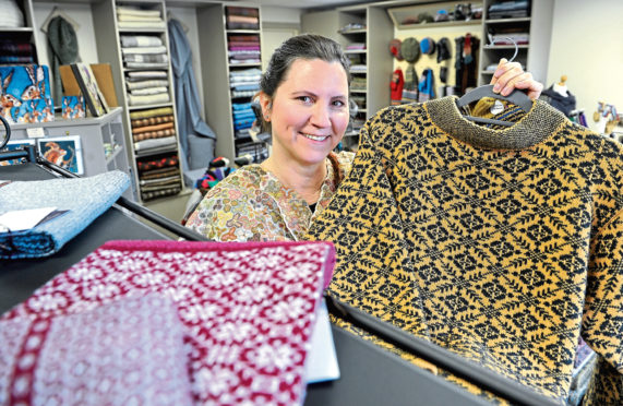 Leslie Foale who runs textiles business Highland Natural Accents in Portree, Skye. Picture by Sandy McCook.