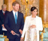 The Duke and Duchess of Sussex attending a reception at Buckingham Palace in London