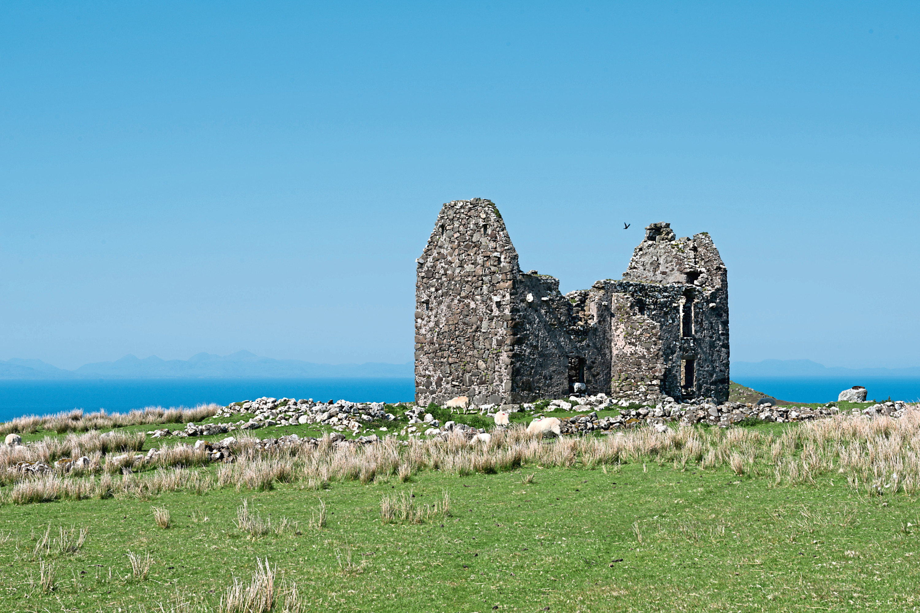 The land for sale at Unish includes the remains of a 17th century house