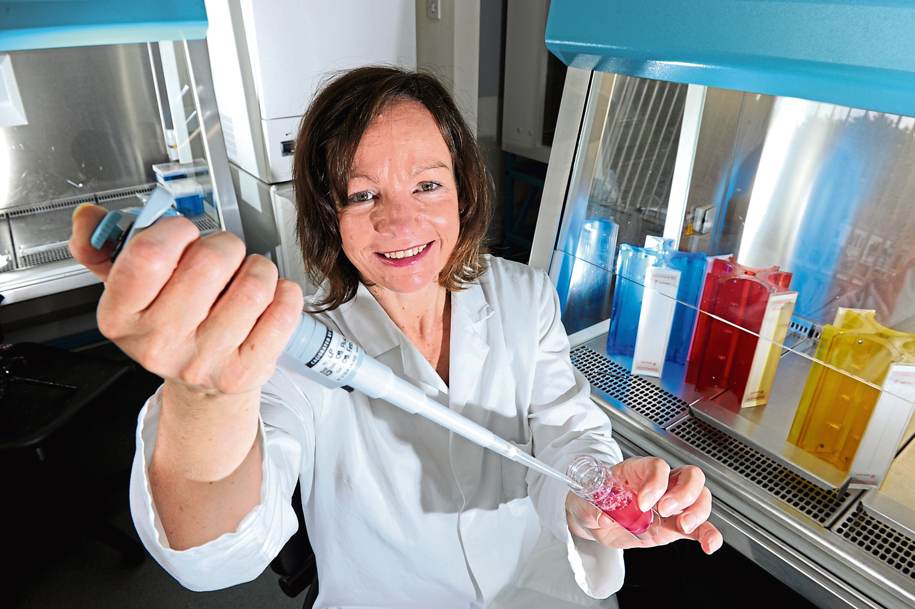 Deborah O'Neil, chief scientific officer for NovaBiotics Ltd, at their laboratory in the Cruickshank building, Craibstone.