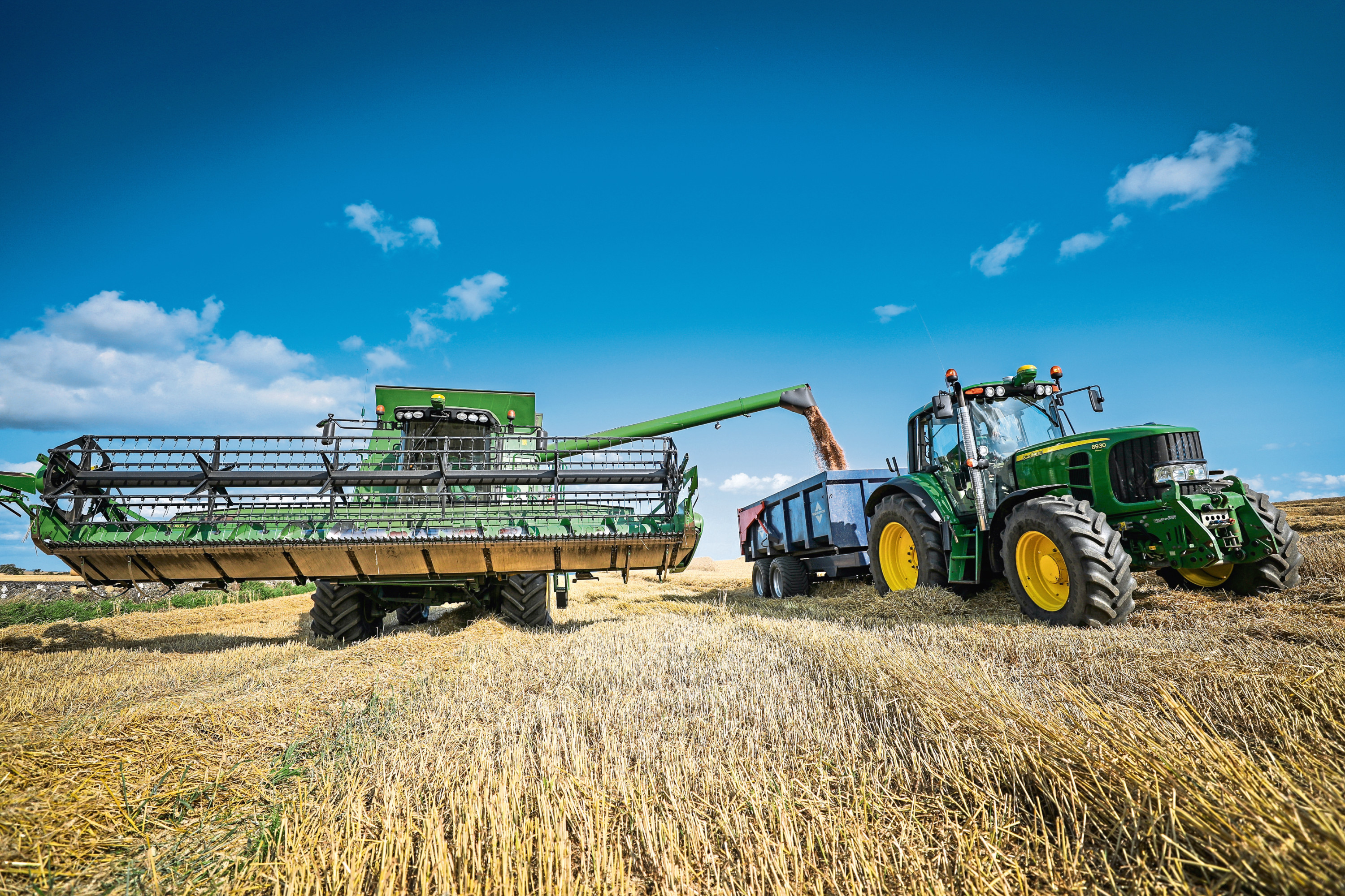 Average wheat yields were up 28% on last year.