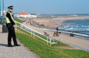 The scene at Aberdeen Beach on April 19