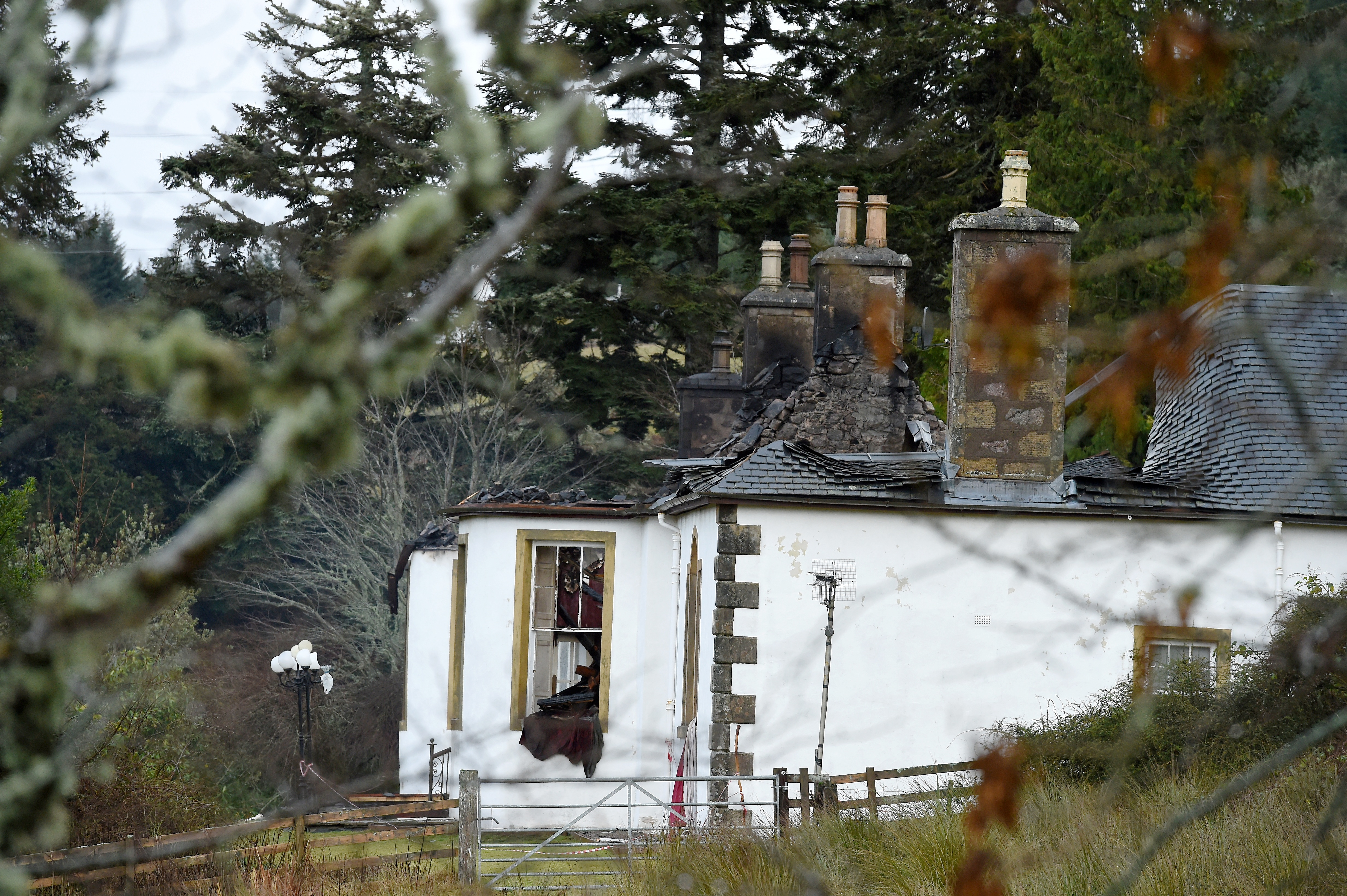 The ruined Boleskine House, Foyers the day after it was gutted by fire in 2015.