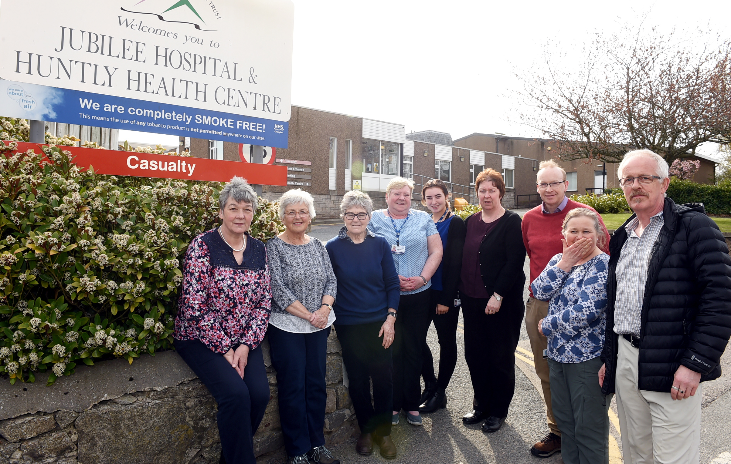 David Easton, right, with the Friends of Jubilee Hospital group