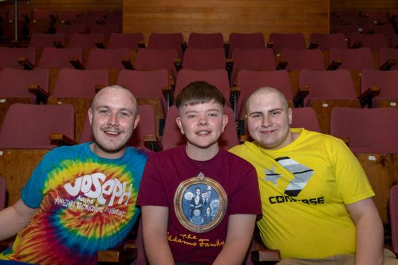 Calum Mcleod, Aiden Henderson and Gregor Lawson