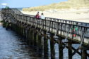 The bridge from Seatown to the East Beach, Lossiemouth.
