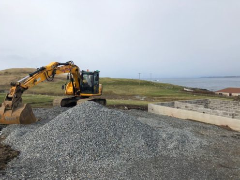 A £300.000  loan from Shetland Islands Council has helped stimulate the construction of new homes in Burra, with construction of the first house underway
