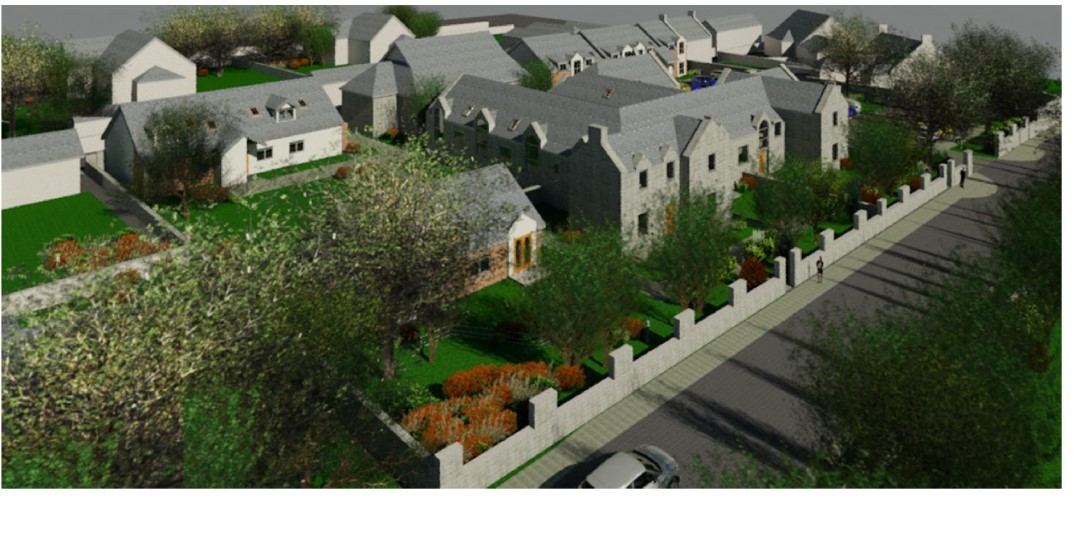An artists' impression on the development at the old school in Ballater.