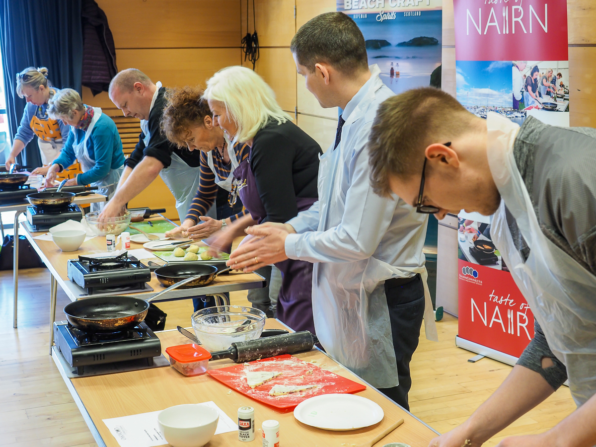 Competitors take part in the 2019 World Tattie Scone Competition