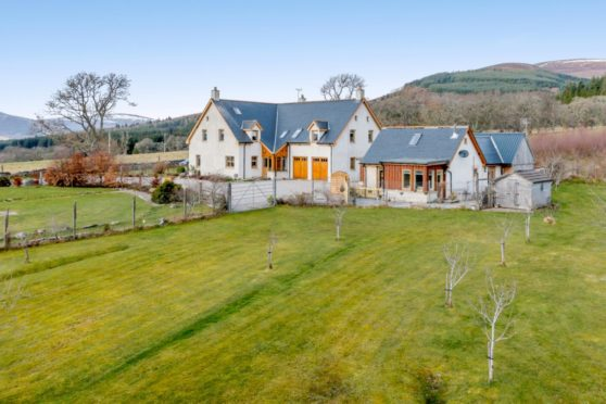 In Ardross, around four miles from Alness, sits a beautiful, modern home, Cor Tollie.