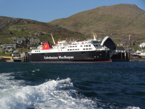 The Isle of Lewis is unable to move from its position in Castlebay