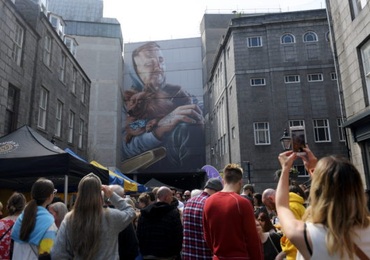 SMUG'S work at The Green. Aberdeen Inspired helps to put on events such as the city's Nuart street art festival.
