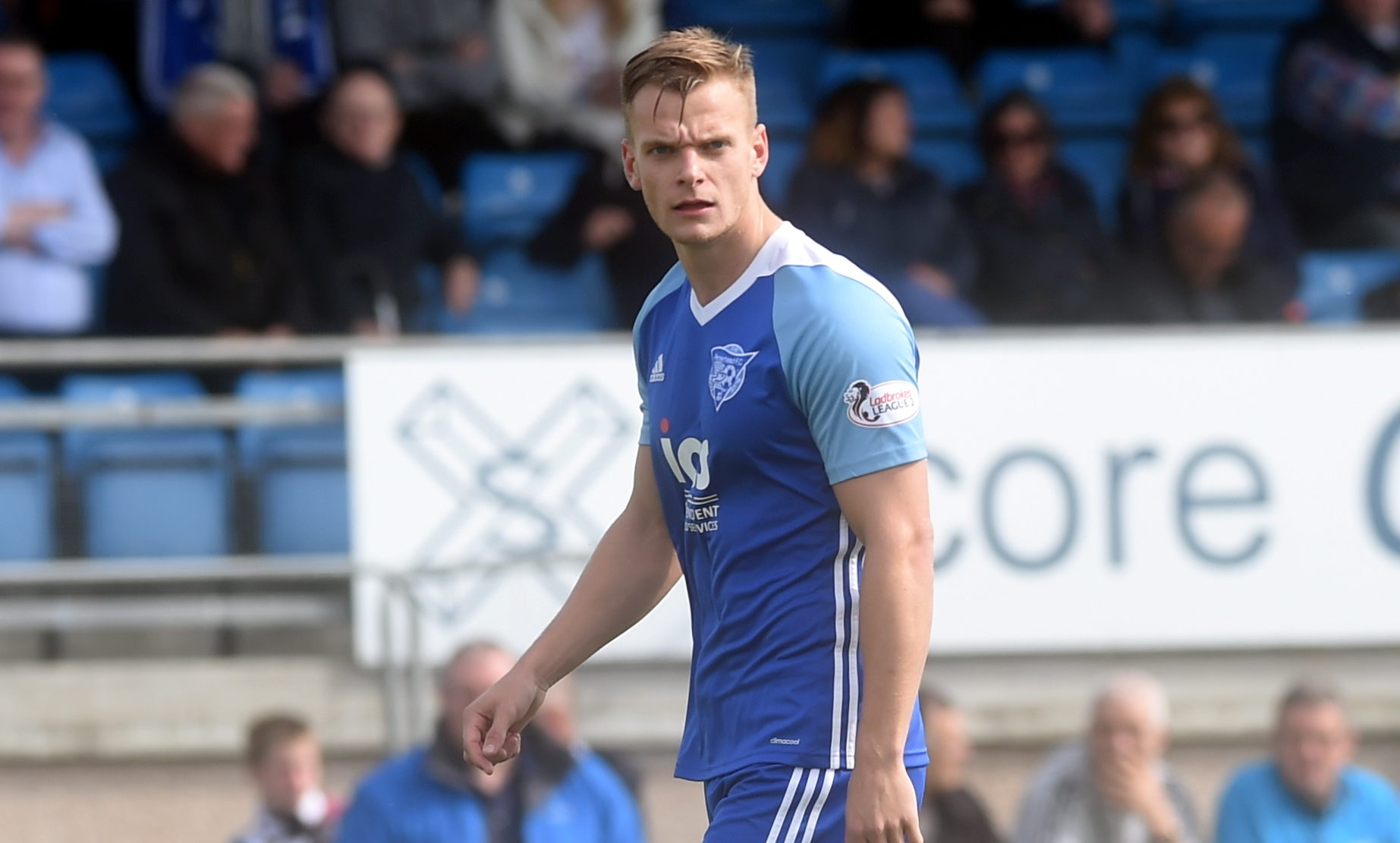 Peterhead defender Jason Brown.