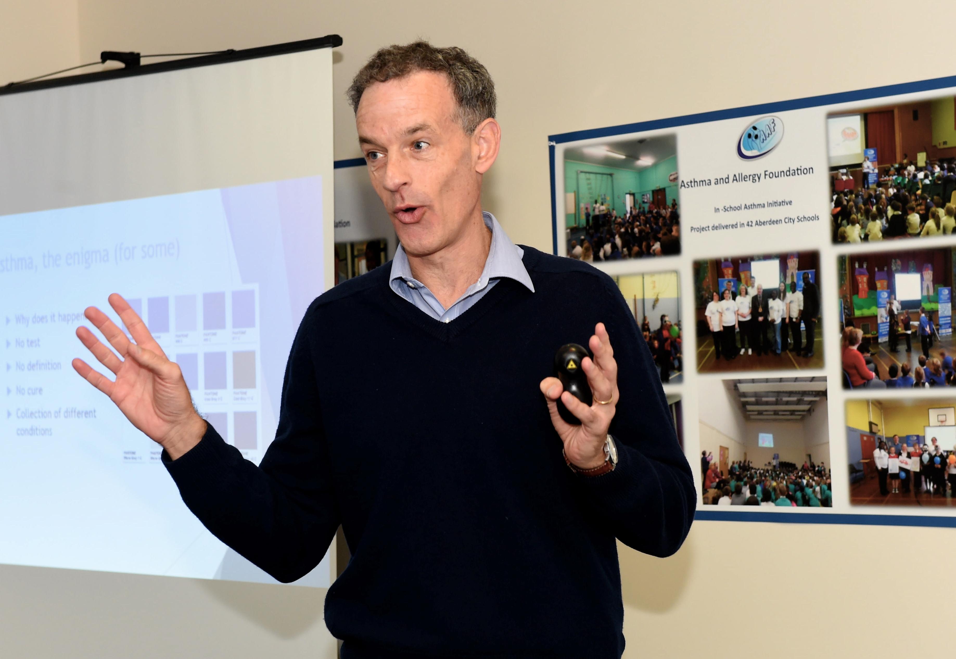 Professor Steve Turner from Aberdeen Uni.