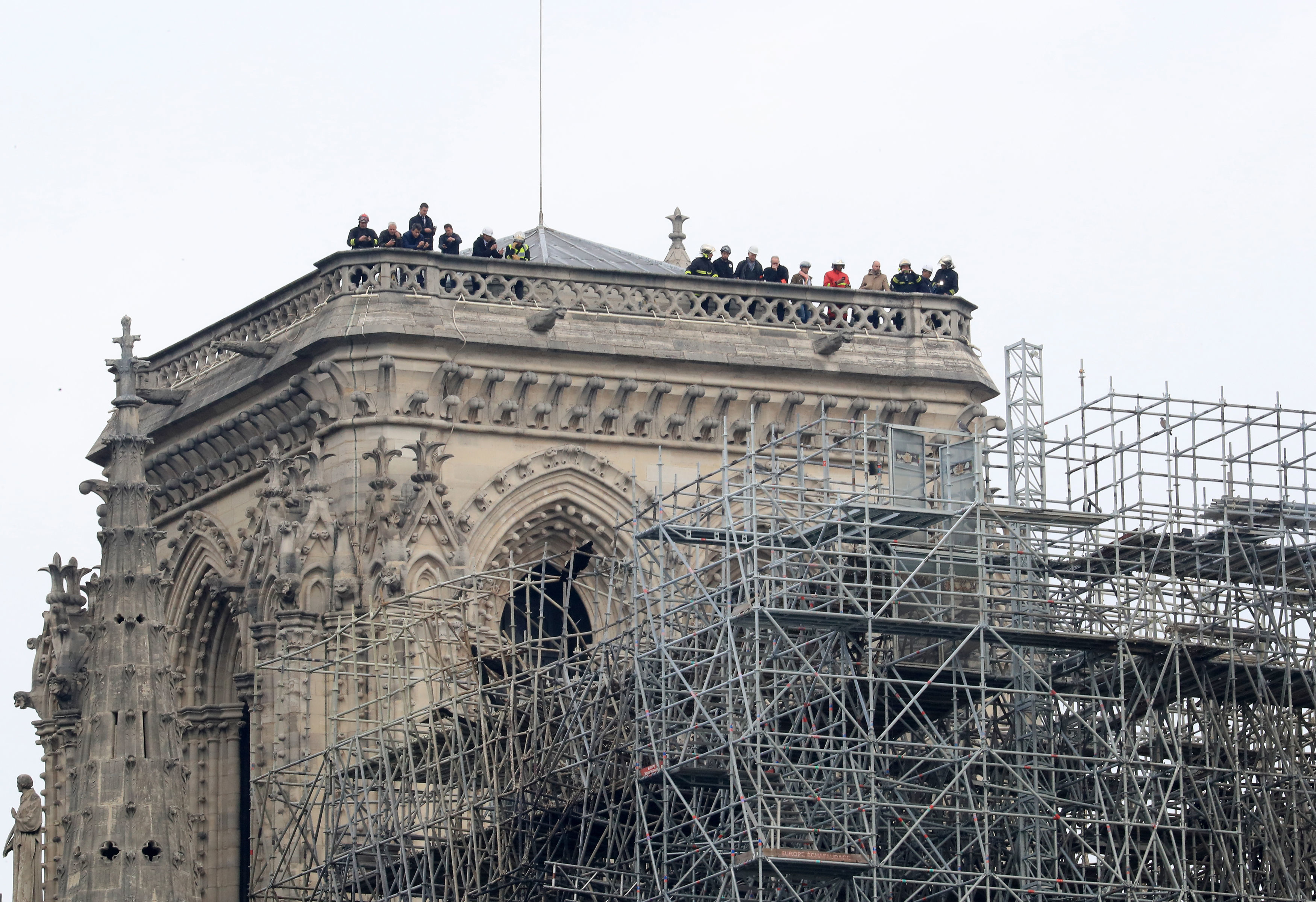 The Notre Dame Cathedral in Paris following a fire which destroyed much of the building on Monday evening. Picture by Gareth Fuller/PA Wire.