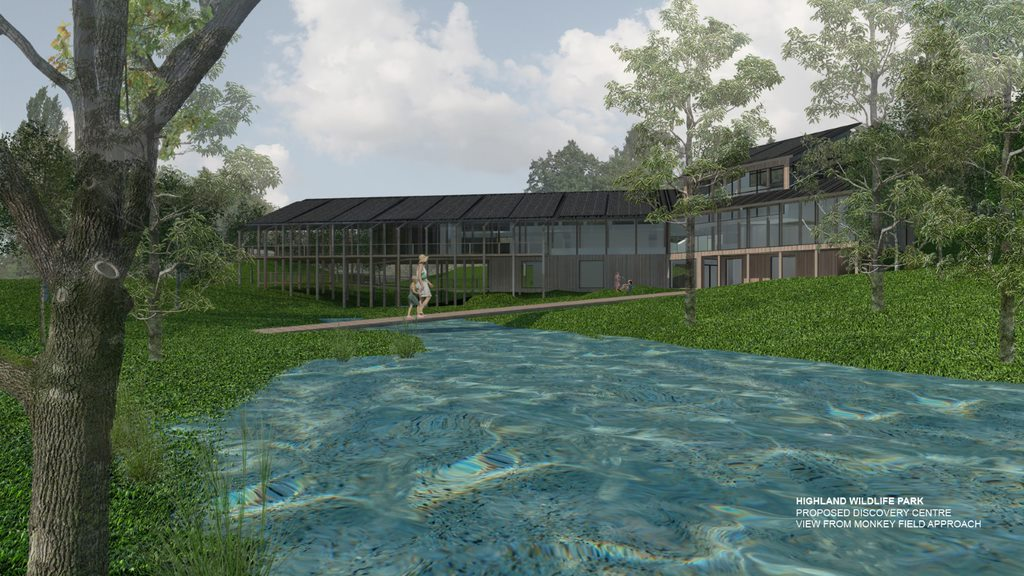 Highland Wildlife Park visitor centre takes a step closer after development funding from the National Lottery Heritage Fund.