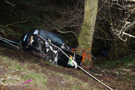 The road accident on the A82 near Letterfinlay.
