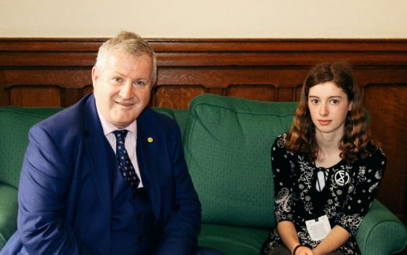 Ian Blackford MP and Holly Gillibrand following her visit to Westminster