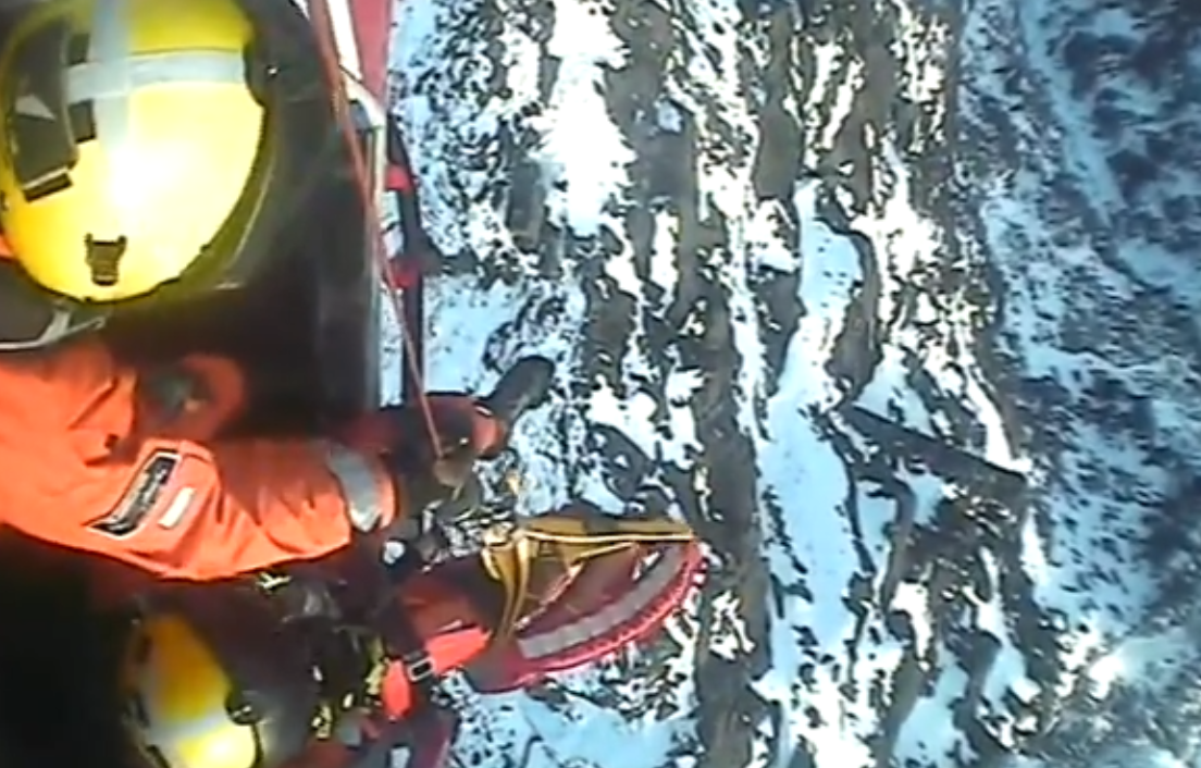 A screengrab from the video, courtesy of the Maritime and Coastguard Agency.