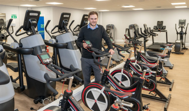 Leisure Manager John Duguid with the new gym equipment