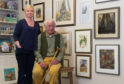 Maggie Riegler's husband Stewart Johnston and daughter Lucy Brown at the opening of the exhibition dedicated to her work.
